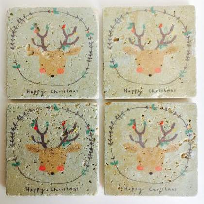 Happy Christmas Reindeer, Natural S..