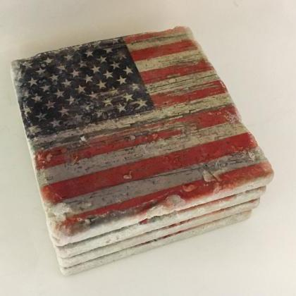 Distressed American Flag Premium Na..