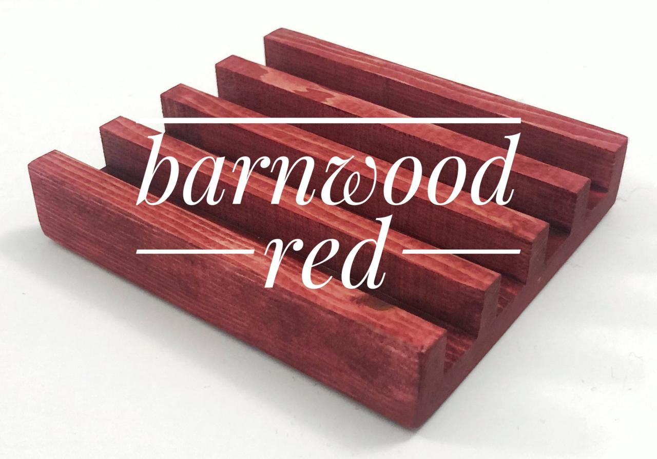 Coaster Holder Barnwood Red Wooden Coaster Stand For Tile Coasters