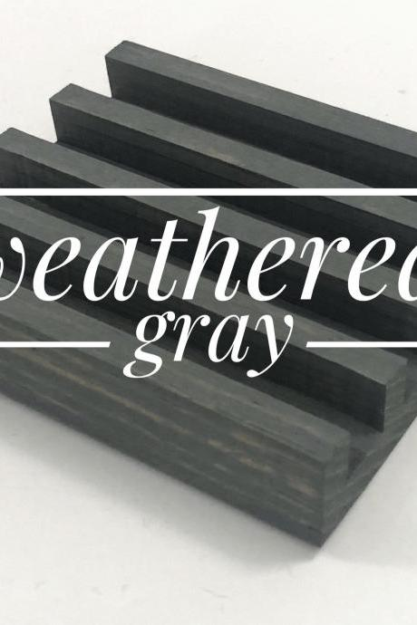 Weathered Gray Coaster Stand, For Tile Coasters